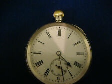 Antique Continental Sterling Silver Case Pocket Watch A