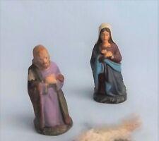 Antike 2-tlg. Krippenfiguren aus Masse - Maria und Josef - um 1900 -