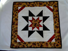 Original Quilt Table Topper by Kathi Krause, Winter Christmas Red Green Star New