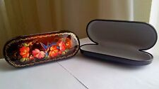 Ukrainian Kiev Hand-painted Lacquer Box Glasses Spectacle-case Jewelry Souvenir