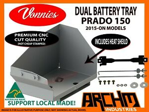 VONNIES DUAL BATTERY TRAY SYSTEM FOR TOYOTA PRADO 150 (2015-ON) 2.8 LTR