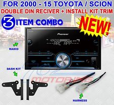 FOR TOYOTA & SCION BLUETOOTH USB RADIO STEREO INSTALLATION DOUBLE DIN DASH KIT