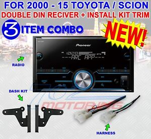 FOR TOYOTA & SCION BLUETOOTH USB RADIO STEREO INSTALLATION DOUBLE DIN DASH KIT