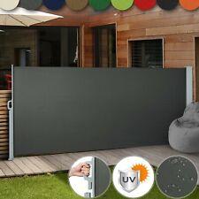 Seitenmarkise Ausziehbar Alu Balkon Garten UV Windschutz Sichtschutz Seitenrollo