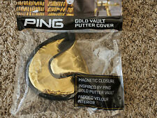 NEW IN BAG PING GOLD VAULT PUTTER HEADCOVER GOLF HEAD COVER MALLET MAGNETIC