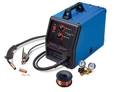 Auto Feeding MIG 135 AMP Gas Flux Wire Core Welding Welder w/ Regulator Gauge