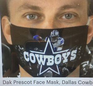 Quarterback Dak Prescott face mask / Cowboys Reusable Face Breathing Masks