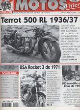 (155A) Motos d'hier N° 40 : Terrot 500 RL BSA Rocket 3 100 Mandille et Roux...