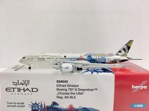 Herpa Wings Etihad Airways Boeing 787-9 Dreamliner 1:500 A6-BLE 534543