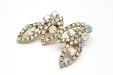D&E Juliana Style Signed MADELEINE Vintage RHINESTONE EARRINGS - DELIZZA ELSTER