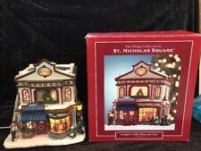 2005 ST NICHOLAS SQUARE VILLAGE KRINGLE'S COFFEE SHOP AND CAFE IN ORIGINAL BOX