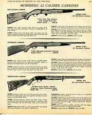 1968 Print Ad of Mossberg Model 342-K Bolt, 352-K Auto & 402 Lever Carbine Rifle