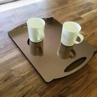 """Rectangle Flat Serving Tray - Bronze Mirror Acrylic, 3mm Thick 30x40cm 12""""x16"""""""