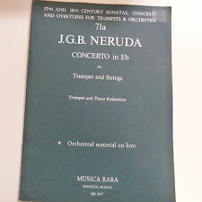 trumpet NERUDA concerto in flat for trumpet and strings, TRUMPET + PIANO REDUCTI