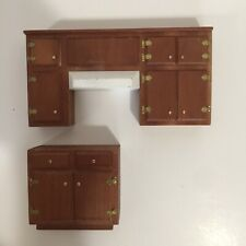 Vintage Dollhouse Miniatures 1:12 Scale Artisan HB Jones Signed Kitchen Cabinets