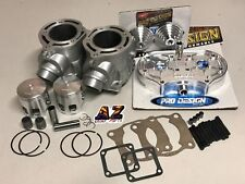 Banshee RAW 66 370cc Big Bore Cylinders Pro Design Head Domes Kit Wiseco Pistons
