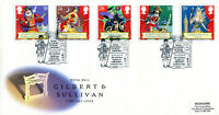21 JULY 1992 GILBERT & SULLIVAN ROYAL MAIL FIRST DAY COVER ROYAL ACADEMY SHS