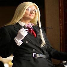 wig Halloween costume Cosplay Weiß Hellsing Integra Pale Fasching mode wig