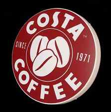 LARGE COSTA COFFEE SHOP SIGN LIGHT UP PICTURE BAR PUB CAFE USA ADVERTISING LOGO