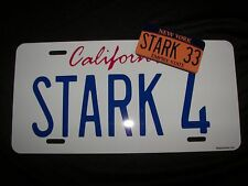 Iron Man / Tony Stark's Audi R8 / STARK 4  Prop Replica License Plate *FREE GIFT