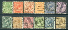 1924 Great Britain Gb Sc 187-200 - Used Set of 12, King George V Kgv*