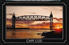 CAPE COD MA Canal Sunset Buzzards Bay Railroad Bridge