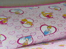 DISNEY PRINCESS FLANNELETTE SINGLE BED FITTED SHEET & PILLOW SET BNIP PRINCESSES