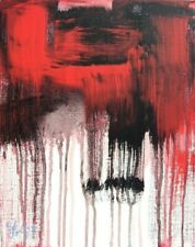 Modernist ABSTRACT Expressionist PAINTING Modern ART MURDEROUS NIGHT FOLTZ