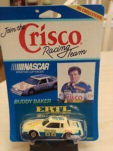 BUDDY BAKER CRISCO OLDSMOBILE ERTL 1/64 RARE PROMO NASCAR Cup Mint on Card