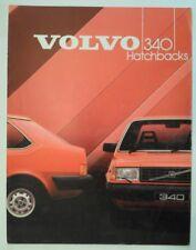 VOLVO 340 HATCHBACKS orig 1984 UK Mkt Sales Brochure