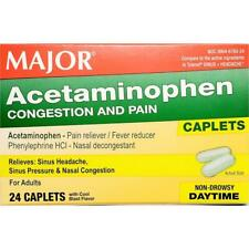 ACETAMINOPHEN 325 MG CONGESTION AND PAIN, 24 CAPLETS