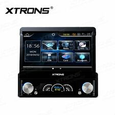 "7"" Car Single DIN Radio Stereo + Reverse Parking Camera GPS Sat Nav DVD Player"