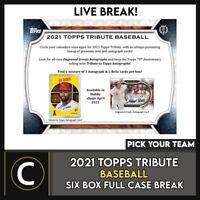 2021 TOPPS TRIBUTE BASEBALL 6 BOX (FULL CASE) BREAK #A1114 - PICK YOUR TEAM