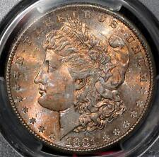 1881-S Morgan Dollar:  PCGS MS-65, CAC approved, Beautifully Toned