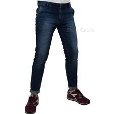 Jeans Uomo Elasticizzato Slim Fit Denim Casual Pantalone 5 Tasche Vita Bassa Chi