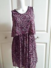 NEW ANN TAYLOR LOFT PAISLEY MULTI PETITE DRESS SIZE SP