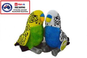 1 X PLUSH BUDGIE 24CM stuffed animal teddy gift soft toy doll bird christmas