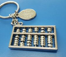 PERSONALISED ABACUS KEYRING MATHS TEACHER GIFT ACCOUNTANT GIFT