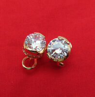 Tova Sterling Silver Pierced Earrings CZ Diamonique Studs Rose Gold Plated 60r