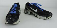 RARE Nike Shox TL4 Women's Running Shoes Size 6.5 Black, Gray & White Blue Laces