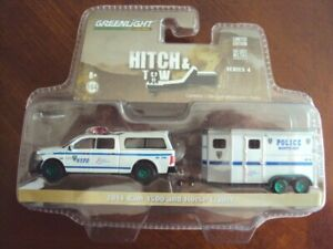 Greenlight Hitch & Tow NYPD 2014 RAM 1500 and Trailer GREEN MACHINE