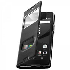 Housse Etui Folio S View Sony Xperia XZ 1 Plus - Envoi en Suivi - Noir