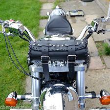 Motocicleta Herramienta Roll Asiento De Cuero Bolso Harley Davidson Softail Dyna Fat Boy C1b