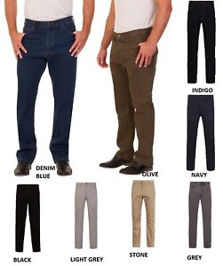 Ex M/&S Men/'s Jeans Regular Leg Soft Trousers Pants Straight Fit Marks /& Spencers