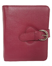 Franklin Covey Leather Ava Binder, Classic 7.5x9.5x1.2-Inches, Plum
