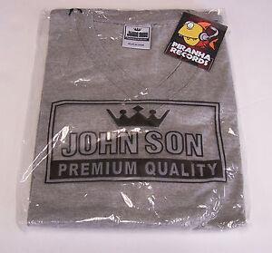 John Son Premium Quality Gray V-Neck Shirt XL 100% Cotton Piranha Records