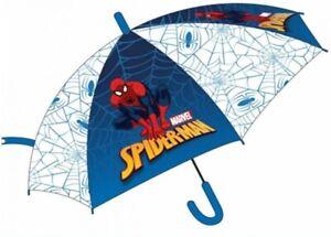 OFFICIAL MARVEL SPIDER MAN BOYS RAIN UMBRELLA KIDS SCHOOL PANEL BROLLY CLEAR NEW