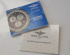 NOTICE + GARANTIE  Breitling NAVITIMER JUPITER PILOT quartz WARANTY A59028