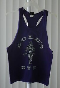 Gold's Gym Tank Top Printed Purple Defect Size Small