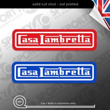 2x CASA LAMBRETTA Vinyl Stickers Decals, Scooter Lambretta  7378-0119
